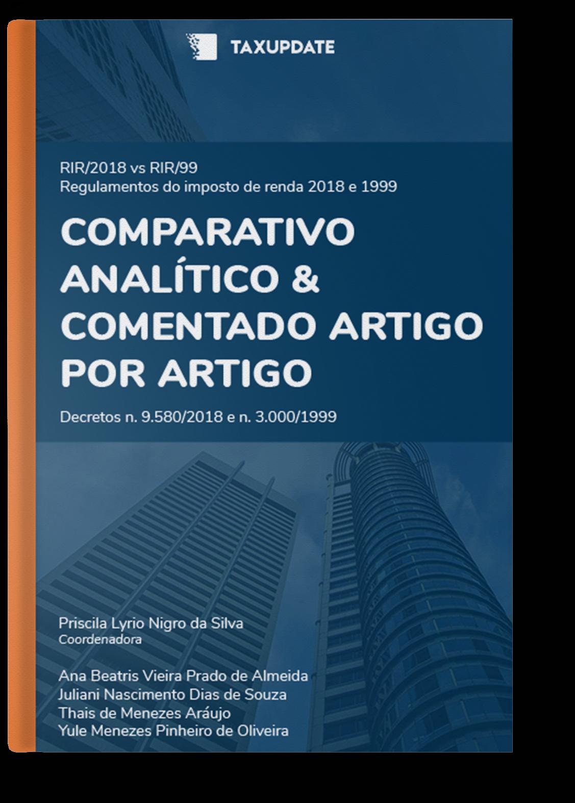 E-book – Comparativo IR